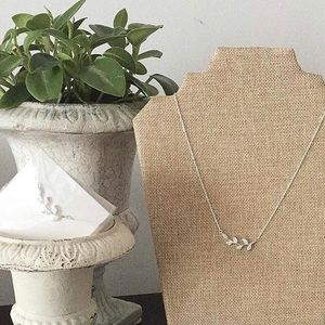 Silver Crystal Necklace BNIP